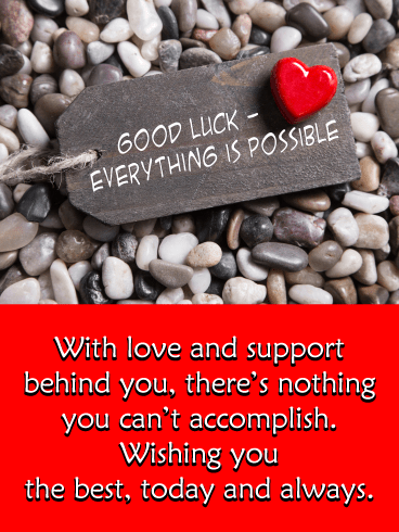 Everything is Possible – Good Luck Card