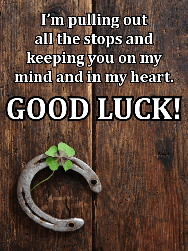 Horseshoe and Clover – Good Luck Card