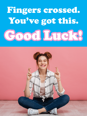 Fingers Crossed – Good Luck Card