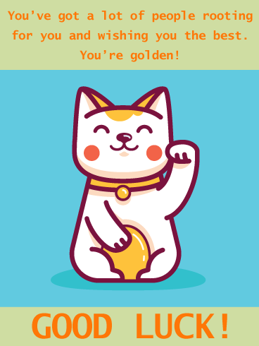 Smiling Cat – Good Luck Card