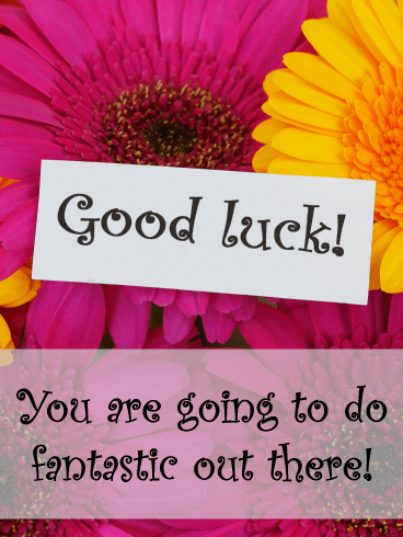 Flower Note - Good Luck Cards