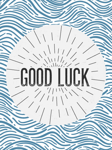 Wavy Wishes - Good Luck Cards