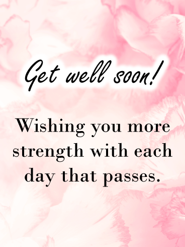 Pink Clouds and Flowers – Get Well Card