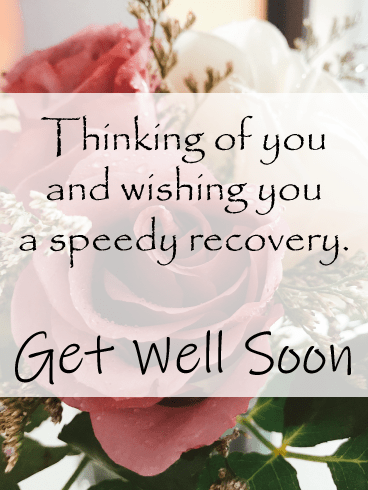 Rose Thoughts Get Well Card