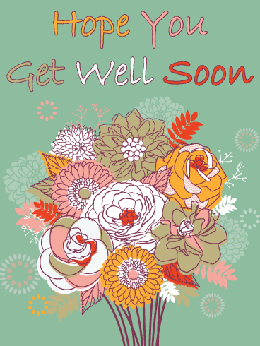 Recovery Flowers – Get Well Card