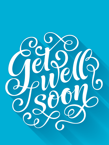 Cursive Healing – Get Well Card