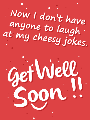 Cheesy Jokes – Get Well Card
