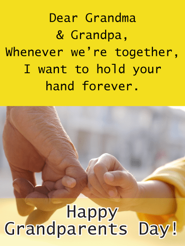 holding tight - Grandparents Day card
