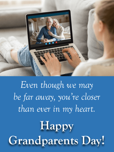 FaceTime with grandparents - Grandparents Day card