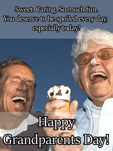 Ice cream laughs - Grandparents Day card