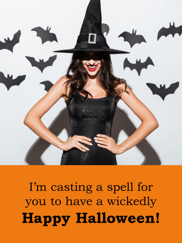 Cast a Spell – Wickedly Happy Halloween Card