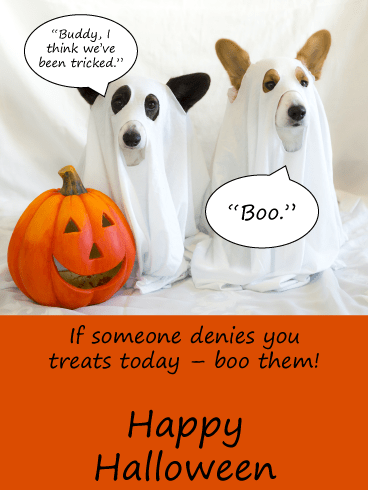 Tricked Without Treats – Funny Halloween Card