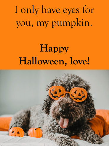 Eyes for My Pumpkin – Romantic Halloween Card