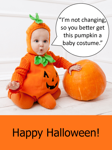 Baby Costume – Funny Halloween Card