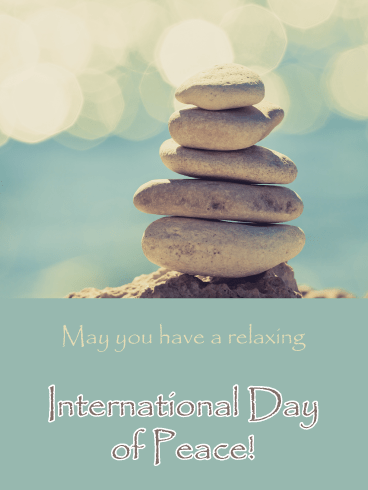 Stone Balance - International Day of Peace Card