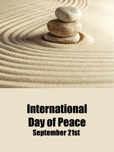 Zen Garden – International Day of Peace Card