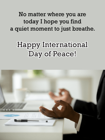 Office Calm – International Day of Peace Card
