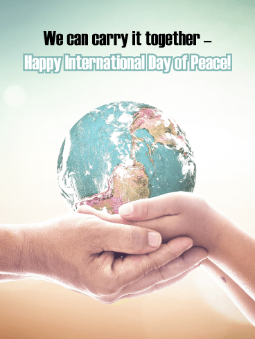World in Our Hands - International Day of Peace Card