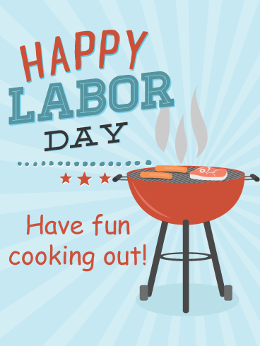 Cookout- Happy Labor Day Card