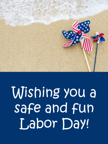 Beach Day- Happy Labor Day Card
