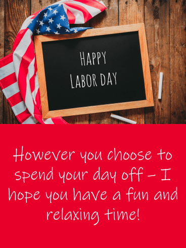 Chalkboard Sign- Happy Labor Day Card