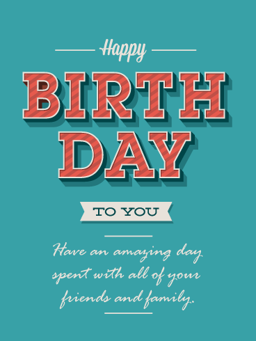 50's Style Wishes – Happy Birthday Card