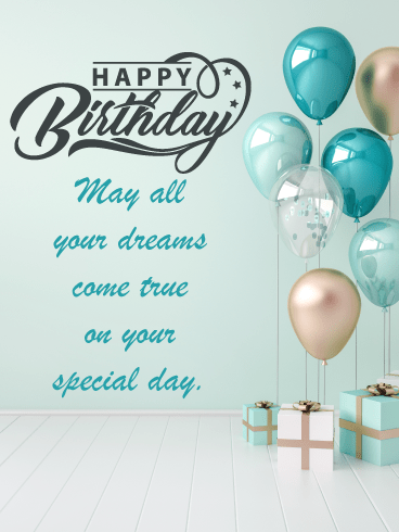 Modern Gifts & Balloons – Happy Birthday Card