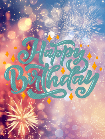 Celebration Explosion – Happy Birthday Card