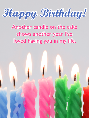 Row of Celebration Candles – Happy Birthday Card