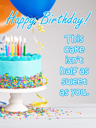 Sweet Frosted Cake – Happy Birthday Card