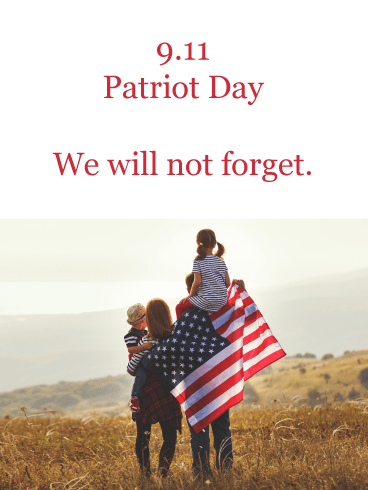 Never Forget- Card for Patriot Day 9.11