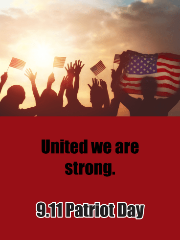 United – Card for 9.11 Patriot Day