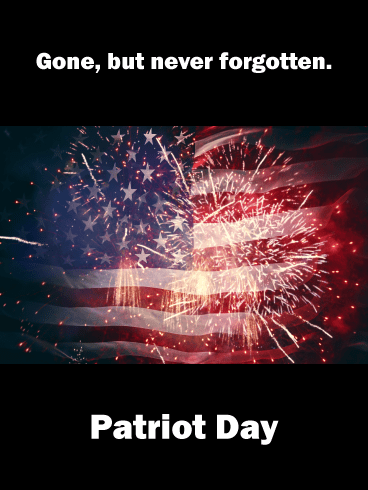 Firework Flag- Patriot Day Card for 9.11