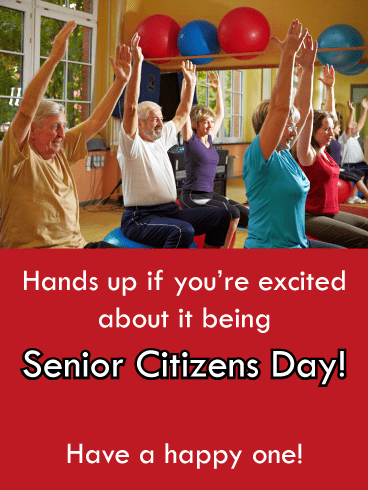 Raise Your Hands- Senior Citizens Day Card