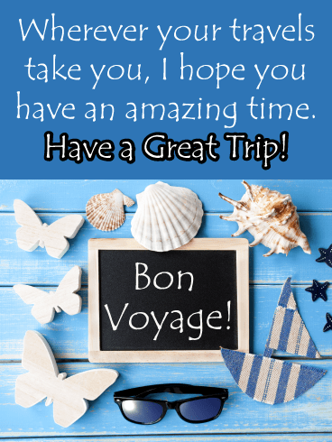 Bon Voyage Sea Journey – Have a Safe Trip Card