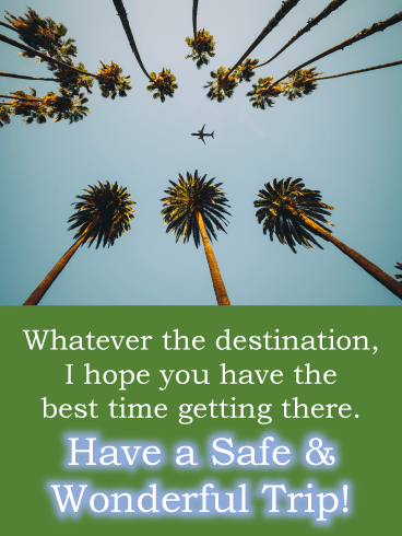 Palm trees – Have a Safe Trip Card