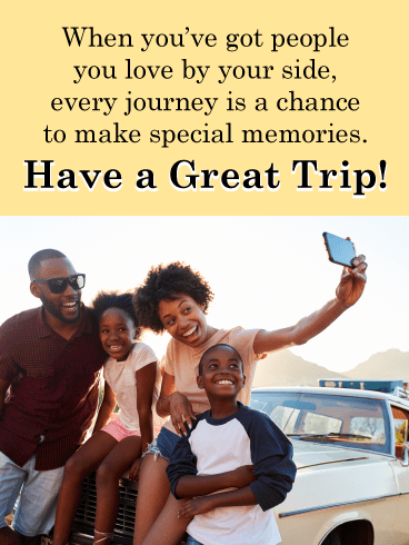 Road Trip Selfie – Have a Safe Trip Card