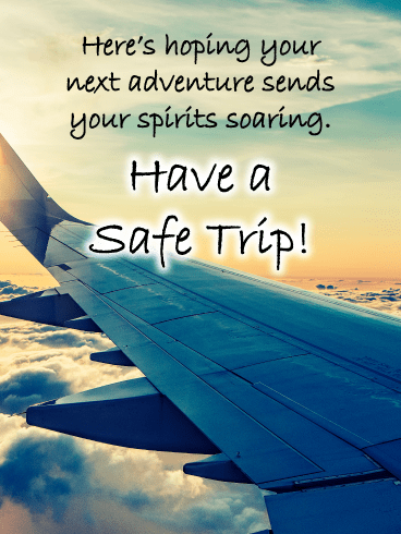 Airplane Wing – Have a Safe Trip Card