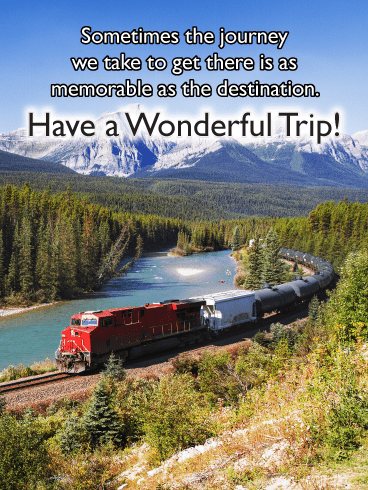 Railroad in the Mountains – Have a Safe Trip Card