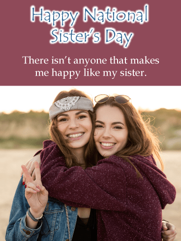 Hugging Peace – Happy International Sister's Day Card