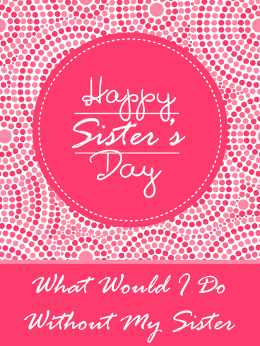 Stitched dots – Happy National Sister's Day Card