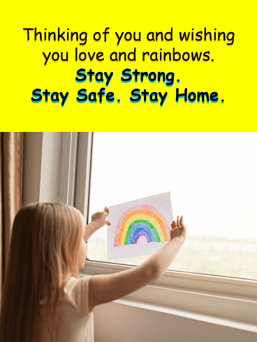 Rainbows of hope – Stay at Home Card