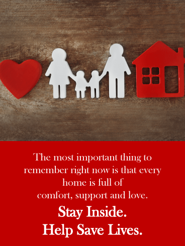 Home is where the heart is – Stay at Home Card