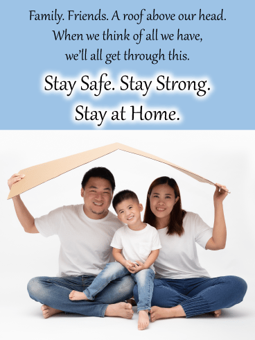A roof over our heads – Stay at Home Card