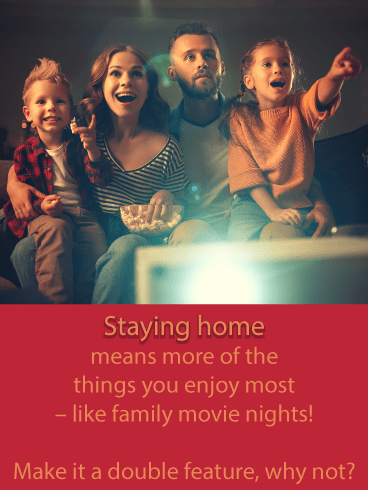Movie Night – Stay at Home Card