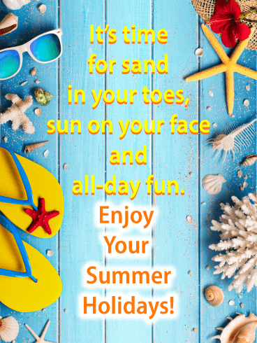 Beach-bound - Summer Cards