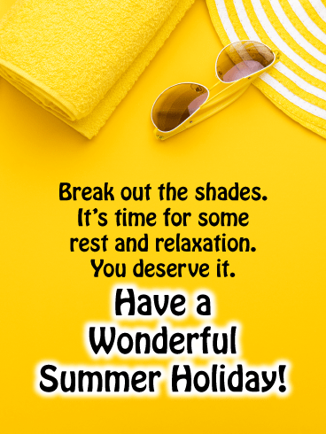 Sunny yellow shades - Summer Cards