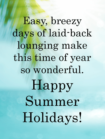 Blue skies and palm trees – Summer Cards