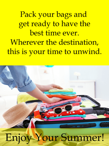 Packed up for vacation – Summer Cards