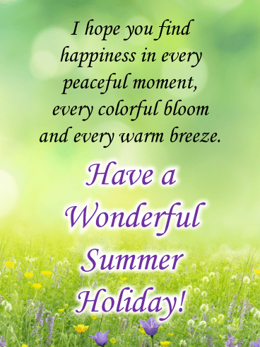 Peaceful flower field – Summer Cards